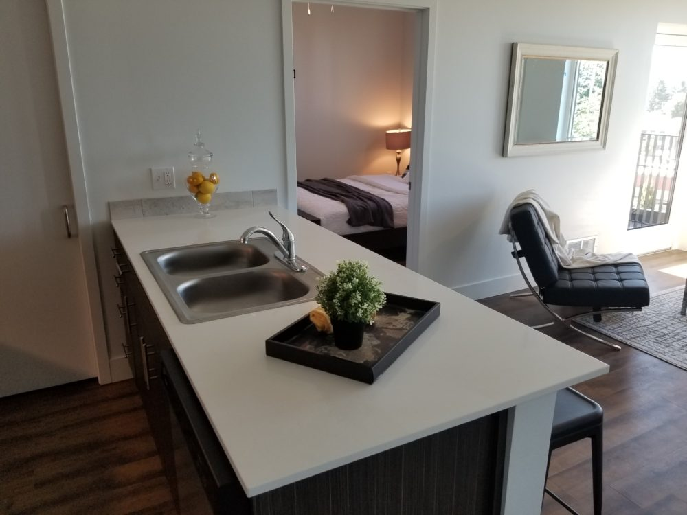 Kitchen counter space apartment